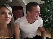 Alluring Blonde With Sexy Tanned Body Holly Takes A Shower With Her Boyfriend