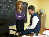 Super sexy red haired teacher Lauren Phillips fucks her favorite student