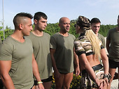Mouth watering bitch Lauren Minardi picks up soldiers for dirty gangbang