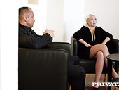 Divorced couple having unforgettable make-up sex in the office