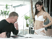 Sexy Turkish babe Anya Krey is having anal sex for the first time