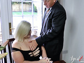 British old nanny Lacey Starr seduces one neighbor and fucks him like nobody else before