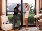 Drenched by the rain Czech babe Shanie Ryan hooks up with hospitable black neighbor