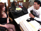 Red haired milf Brittany O Connell hooks up with barely knows macho