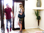 Whore with tatts Kleio Valentien is doggy fucked by hot blooded man