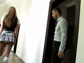 Seductive college chick Angel Blade is fucked by horny and perverted teacher