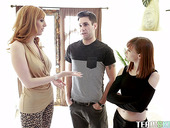 Lewd red haired mommy Alexa Nova is having fun with her stepson and his GF