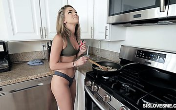 Naughty GF with pierced navel Tayler James is fucked in hot pov clip
