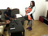 Two Black Fellows Fuck Naughty White Guest Anita S After Taking A Shower