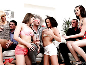 Always sex-hungry bitch Mona Lee takes part in crazy group sex