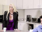 Mega busty blond milf Alura Jenson seduces her stepson and fucks him like nobody else before