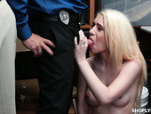 Cuckold boyfriend watches how his shoplifting GF Joseline Kelly gets punished