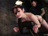 Sex-hungry hottie Violet Monroe gets her pussy punsihed in the dark BDSM room