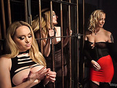 Salacious chick Mona Wales gets her pussy punished by two kinky chicks