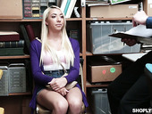Seductive blonde Jessica Jones is fucked by kinky cop in the back room