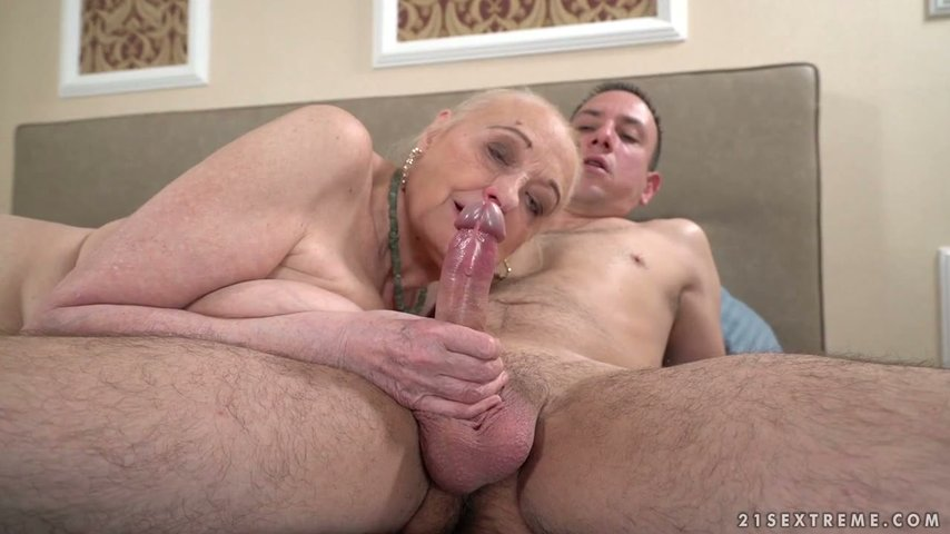 Old bag Sila hooks up with one young dude living nextdoor