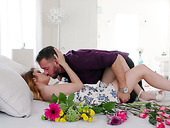 Beautiful GF Adria Rae is making love with her new boyfriend on the first date