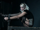 Kinky mistress London River and her assistant punish sex appeal blond babe