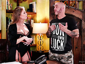 Tattooed lout fucks super juggy and big bottomed masseuse Britney Amber
