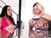 British lesbian Rio Lee is making love with her blond girlfriend