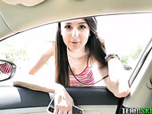 Alluring teen with dimples Eliza Ibarra is fucked by one stranger in hot pov clip