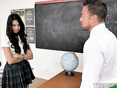 Captivating teen with dimples Eliza Ibarra is fucked by horny teacher