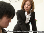 Perverted Asian dude fucks young teacher of his stepson Mio Kuraki