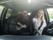 Polish chick Natasha Starr gets her pussy banged in the car