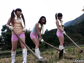 Three dudes fuck Japanese chick and Otsuka and her girlfriends