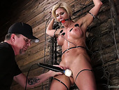 Oversexed porn model Ariel X takes part in hardcore BDSM scene