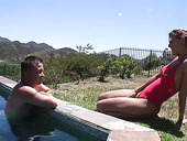 Hungry nympho Lyla Storm gets her pussy fucked by the poolside