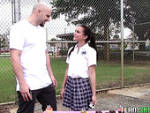 Bald headed stud J Mac fucks yummy petite chick Kharlie Stone