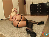 Killing hot blond bitch takes a huge black dong deep in her anal hole
