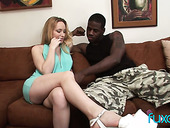 Slutty wife has an affair with new hot blooded black neighbor