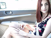 Ginger hottie April Snow takes part in first casting video