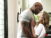 Graduate student Kristen Scott gets her pussy blacked for the first time