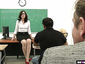 Mouth watering teacher Sarah Shevon gets fucked by several students