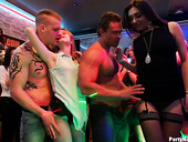 Kinky and spoiled chicks gives a blowjob at the party hardcore
