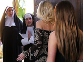 Sinful nuns are making love with perverted lesbian babe Ziggy Star