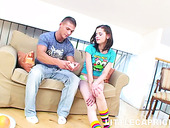 Cute girl Caprice is making love with her handsome boyfriend