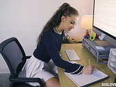 Cute and adorable stepsister Evelin Stone is fond of stepbrother's dick