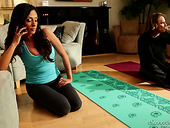 Fake tittied Colombian milf Ariella Ferrera hooks up with her yoga instructor