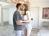 Beautiful creation Maya Kendrick gets her anus blacked for the first time