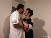 Old woman has an affair with one young dude living nextdoor