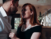 Red haired lesbian Ella Hughes is cheating on her GF with handsome dude