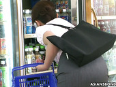 Tied up Japanese gal Ai Yoneyama is squirting in the shop