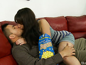 Horny Latin babe Nina Lopez is fucked by hot blooded boyfriend
