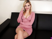 Blonde with juicy boobies Dolly is waiting for your attention