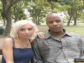 Whore wife Lisa Lennox is eager for big white dick in front of her black husband