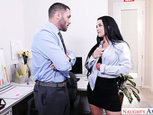 Office slut Katrina Jade hooks up with hot blooded boss's assistant